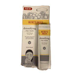 Burt's Bees Detoxifying Clay Mask 0.57 Oz Charcoal